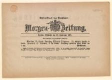 Extra-Blatt der Breslauer Morgen-Zeitung, 28 September 1870