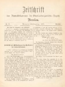 Zeitschrift der Anwaltskammer im Oberlandesgerichts-Bezirk Breslau, 1896, Jg. 9, Nr. 12