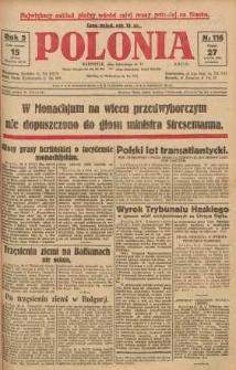 Polonia, 1928, R. 5, nr 116