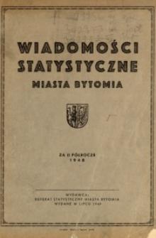 Wiadomości Statystyczne Miasta Bytomia, 1948, 2 półrocze