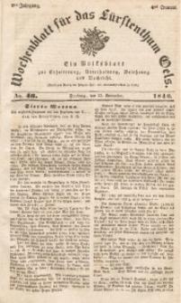 Wochenblatt für das Fürstenthum Oels, 1840, Jg. 7, No. 46