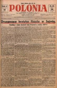 Polonia, 1927, R. 4, nr 27