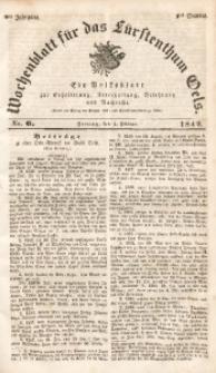 Wochenblatt für das Fürstenthum Oels, 1842, Jg. 9, No. 6