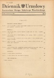 Dziennik Urzędowy Kuratorium Okręgu Szkolnego Wrocławskiego, 1948, R. 4, nr 4