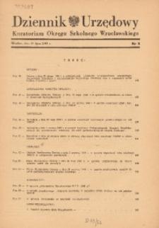 Dziennik Urzędowy Kuratorium Okręgu Szkolnego Wrocławskiego, 1948, R. 4, nr 5