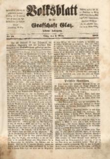Volksblatt für die Grafschaft Glatz, 1849, Jg. 10, Nr. 18