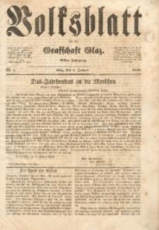 Volksblatt für die Grafschaft Glatz, 1850, Jg. 11, Nr. 1