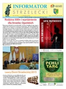 Informator Strzelecki : bezpłatny dwutygodnik kulturalono-informacyjny 2016, nr 7 (170).