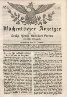 Wöchentlicher Anzeiger, 1849, Jg. 32, No. 9