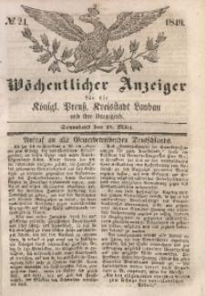 Wöchentlicher Anzeiger, 1849, Jg. 32, No. 24