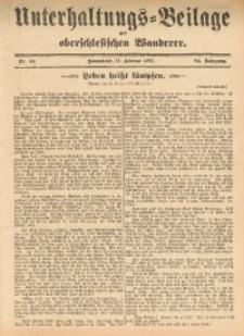 Unterhaltungs-Beilage zum Oberschlesischen Wanderer, 1911, Jg. 84, Nr. 34
