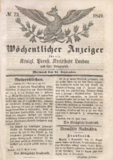 Wöchentlicher Anzeiger, 1849, Jg. 32, No. 73