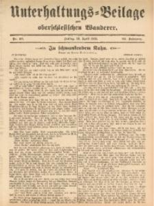 Unterhaltungs-Beilage zum Oberschlesischen Wanderer, 1911, Jg. 84, Nr. 90