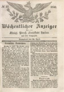 Wöchentlicher Anzeiger, 1850, Jg. 33, No. 32