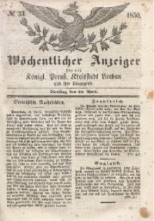 Wöchentlicher Anzeiger, 1850, Jg. 33, No. 33