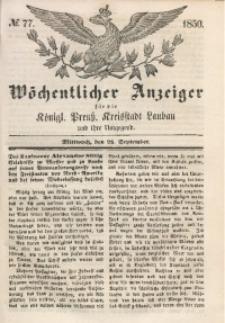 Wöchentlicher Anzeiger, 1850, Jg. 33, No. 77