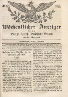 Wöchentlicher Anzeiger, 1850, Jg. 33, No. 80