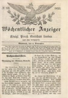 Wöchentlicher Anzeiger, 1850, Jg. 33, No. 89