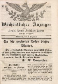 Wöchentlicher Anzeiger, 1850, Jg. 33, No. 97