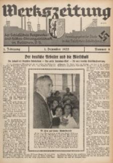 Werkszeitung der Schlesischen Bergwerks- und Hütten-Aktiengesellschaft in Beuthen O/S., 1933, Jg. 1, Nr. 4