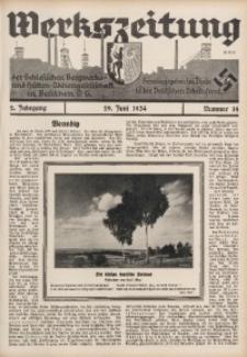 Werkszeitung der Schlesischen Bergwerks- und Hütten-Aktiengesellschaft in Beuthen O/S., 1934, Jg. 2, Nr. 14
