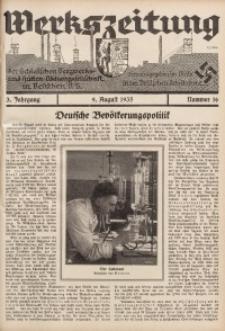 Werkszeitung der Schlesischen Bergwerks- und Hütten-Aktiengesellschaft in Beuthen O/S., 1935, Jg. 3, Nr. 16