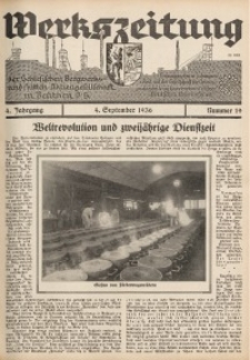 Werkszeitung der Schlesischen Bergwerks- und Hütten-Aktiengesellschaft in Beuthen O/S., 1936, Jg. 4, Nr. 19