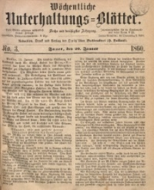 Wöchentliche Unterhaltungs-Blätter, 1860, Jg. 36, No. 3