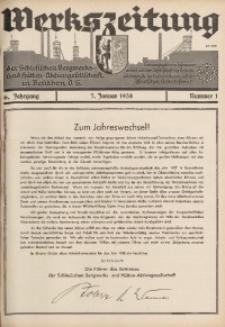 Werkszeitung der Schlesischen Bergwerks- und Hütten-Aktiengesellschaft in Beuthen O/S., 1938, Jg. 6, Nr. 1
