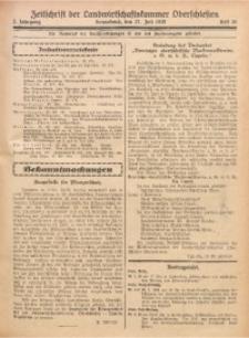 Zeitschrift der Landwirtschaftskammer Oberschlesien, 1928, Jg. 2, Heft 29