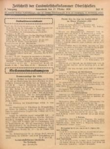 Zeitschrift der Landwirtschaftskammer Oberschlesien, 1928, Jg. 2, Heft 41