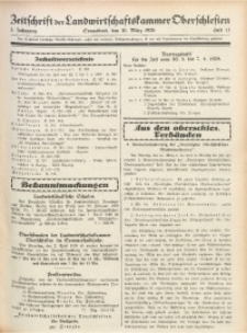 Zeitschrift der Landwirtschaftskammer Oberschlesien, 1929, Jg. 3, Heft 13