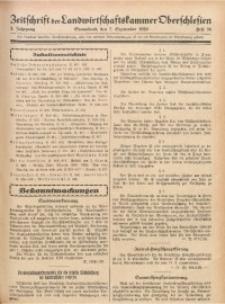 Zeitschrift der Landwirtschaftskammer Oberschlesien, 1929, Jg. 3, Heft 36