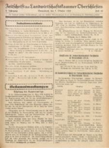 Zeitschrift der Landwirtschaftskammer Oberschlesien, 1929, Jg. 3, Heft 40