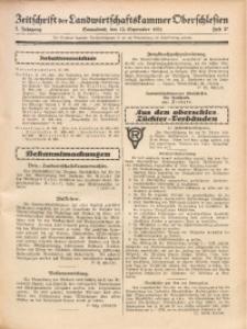 Zeitschrift der Landwirtschaftskammer Oberschlesien, 1931, Jg. 5, Heft 37