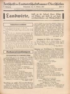 Zeitschrift der Landwirtschaftskammer Oberschlesien, 1931, Jg. 5, Heft 44