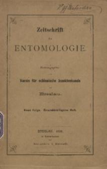 Zeitschrift für Entomologie, 1906, Heft 31
