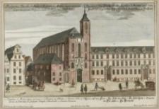 Prospect der Fürststiffts Kirchen S. Mariae auf dem Sand der regulirten ChorHerrn S. Augustini in Breslau