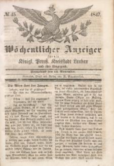 Wöchentlicher Anzeiger, 1847, Jg. 30, No. 45