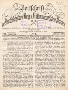 Zeitschrift des Oberschlesischen Berg- und Hüttenmännischen Vereins, 1868, Jg. 7, No. 1