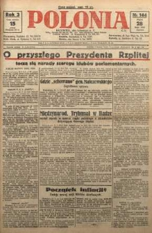 Polonia, 1926, R. 3, nr 144