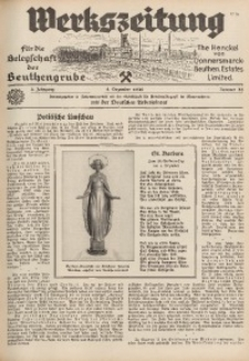 Werkszeitung für die Belegschaft der Beuthengrube, 1936, Jg. 3, Nr. 25