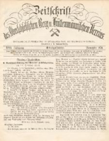 Zeitschrift des Oberschlesischen Berg- und Hüttenmännischen Vereins, 1879, Jg. 18, November