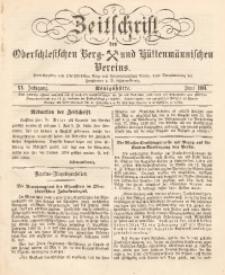 Zeitschrift des Oberschlesischen Berg- und Hüttenmännischen Vereins, 1881, Jg. 20, Juni