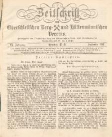 Zeitschrift des Oberschlesischen Berg- und Hüttenmännischen Vereins, 1881, Jg. 20, September