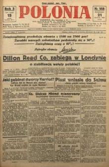Polonia, 1926, R. 3, nr 168