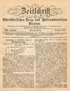 Zeitschrift des Oberschlesischen Berg- und Hüttenmännischen Vereins, 1885, Jg. 24, Dezember
