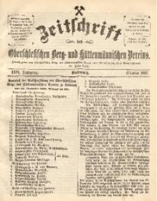 Zeitschrift des Oberschlesischen Berg- und Hüttenmännischen Vereins, 1887, Jg. 26, Oktober