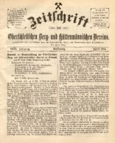 Zeitschrift des Oberschlesischen Berg- und Hüttenmännischen Vereins, 1888, Jg. 27, April