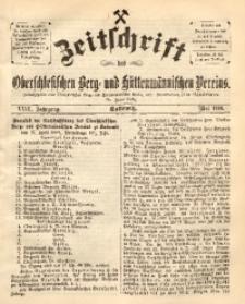 Zeitschrift des Oberschlesischen Berg- und Hüttenmännischen Vereins, 1888, Jg. 27, Mai